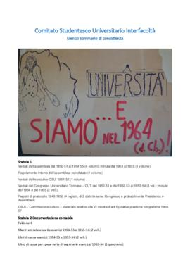 Comitato Studentesco Universitario Interfacoltà - C.S.U.I.
